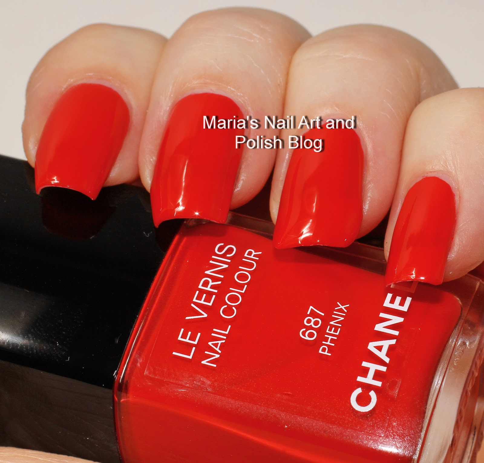 Marias Nail Art And Polish Blog Flushed With Stripes And: Marias Nail Art And Polish Blog: Chanel Phenix 687