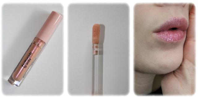 Swatch Gloss Lip Strobe Teinte 05 Pink Shimmer