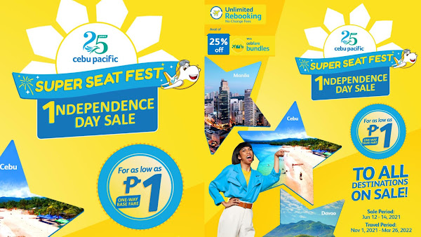 Cebu Pacific's PISO Sale this Independence Day 2021