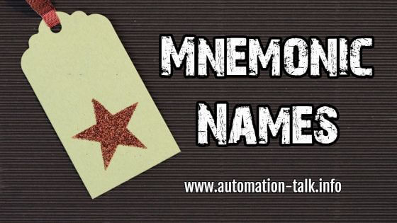 Mnemonic Names of Commonly used Instructions in PLC