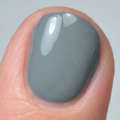 grey nail polish close up swatch