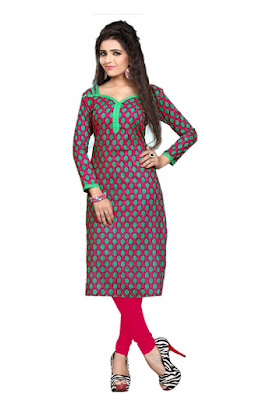 Cotton Printed Unstitched Kurti Material