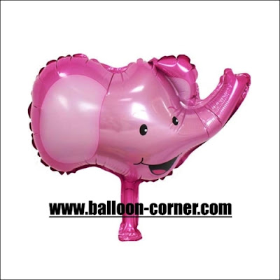 Balon Foil Kepala Gajah Mini