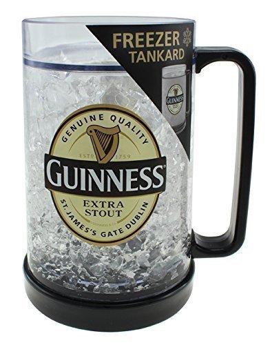 Jarra de cerveza de buena calidad para meter en el congelador, modelo oficial de la marca Guinness.