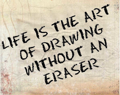 great love is the art of drawing without an eraser