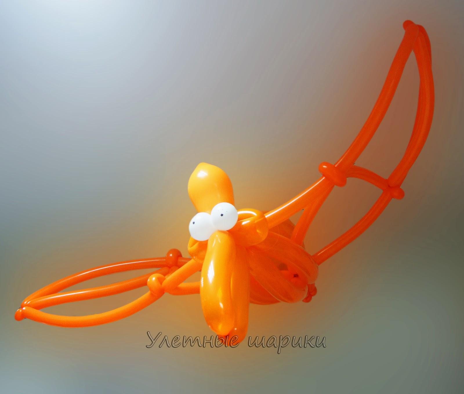Птеродактиль из воздушных шариков