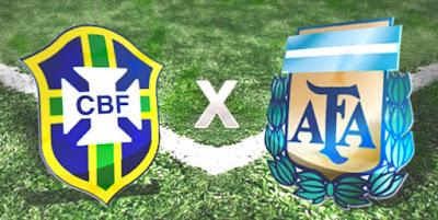 Resultado de imagem para AMISTOSO BRASIL X ARGENTINA