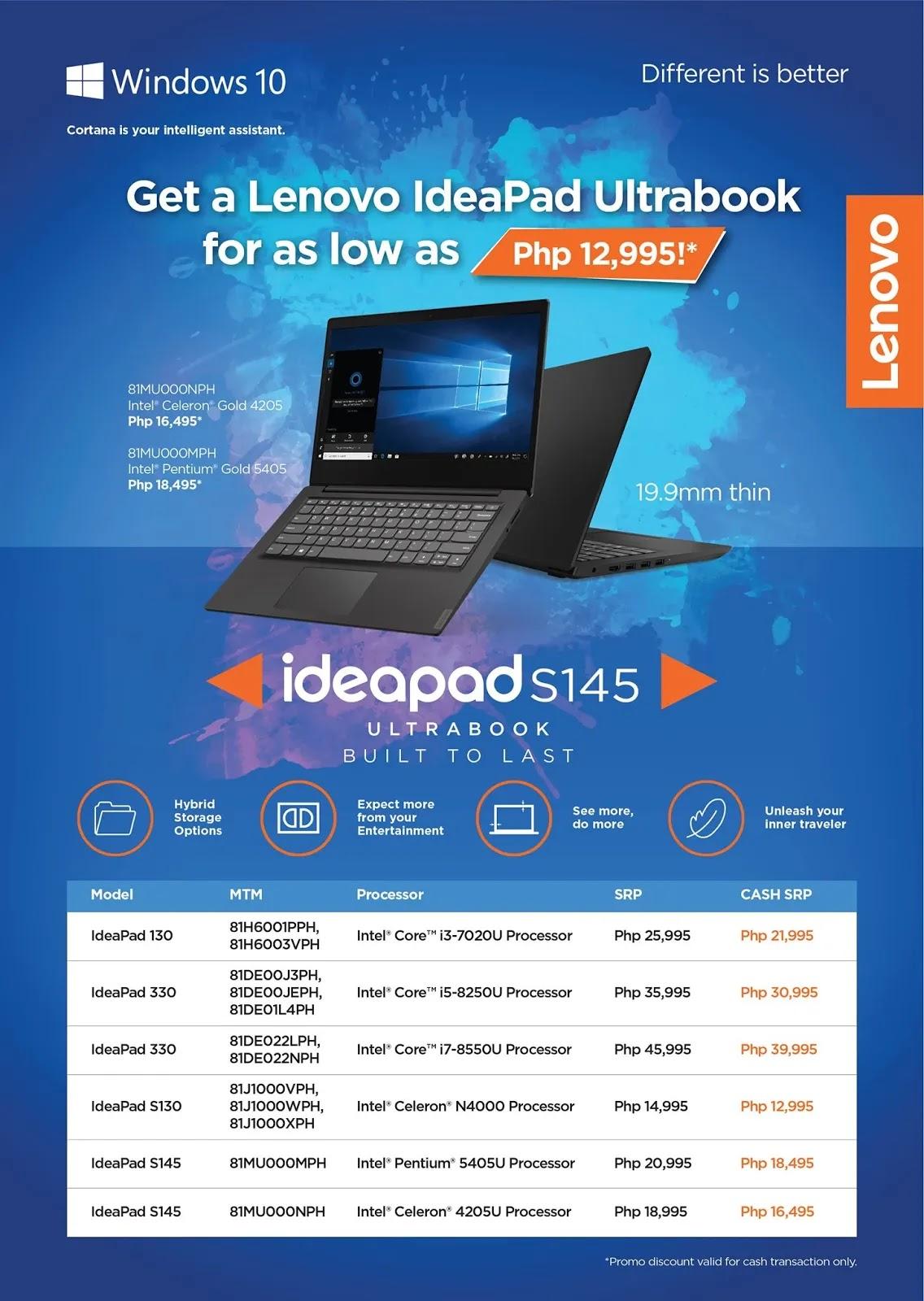 Lenovo IdeaPad Ultrabook Pre-Holiday Season Promo