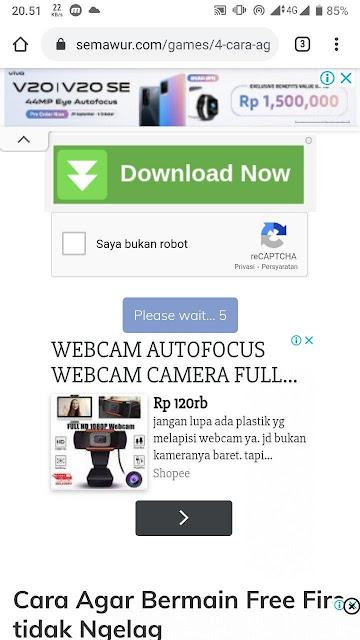 Tampilan Semawur.com di Smartphone