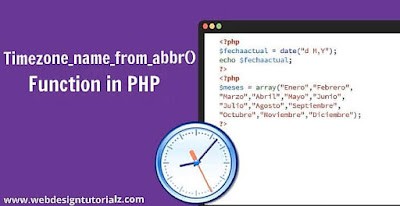PHP timezone_name_from_abbr() Function