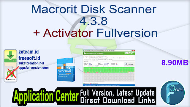 Macrorit Disk Scanner 4.3.8 + Activator Fullversion