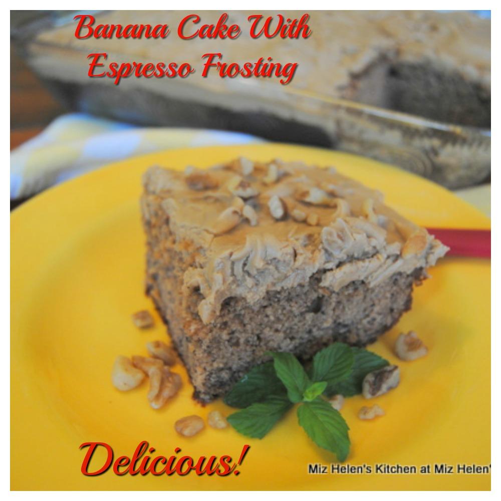 Banana Cake With Espresso Frosting