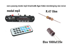 cara pasang modul mp3 bluetooth Agar tidak mendenging dan noise