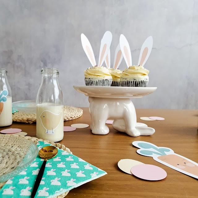 Decoración mesa desayuno Pascua
