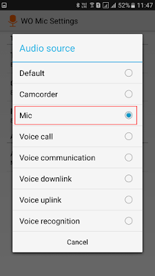 Android  Sebagai Microphone Portable PC Windows