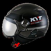 Helm KYT Elsico Seri 3 Black gunmetal