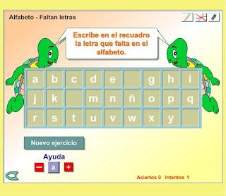 Repasa el orden de las letras jugando