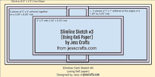 Sketch for Slimline from 6x6 Paper Template #3 by Jess Crafts