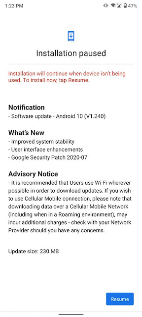 Nokia 5.3 receiving July 2020 Android Security patch