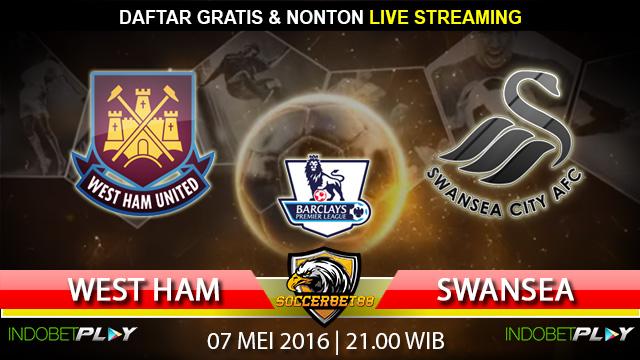 Prediksi West Ham vs Swansea 07 Mei 2016 (Liga Inggris)