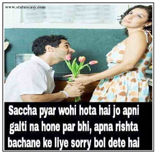 Sorry Shayari in Hindi For GF image, profile pic, photo
