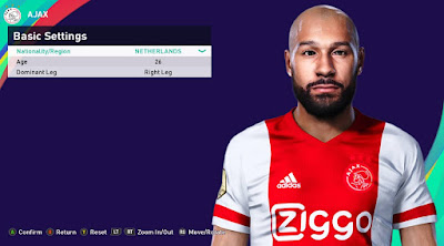 PES 2021 Faces Sean Klaiber by Rachmad ABs