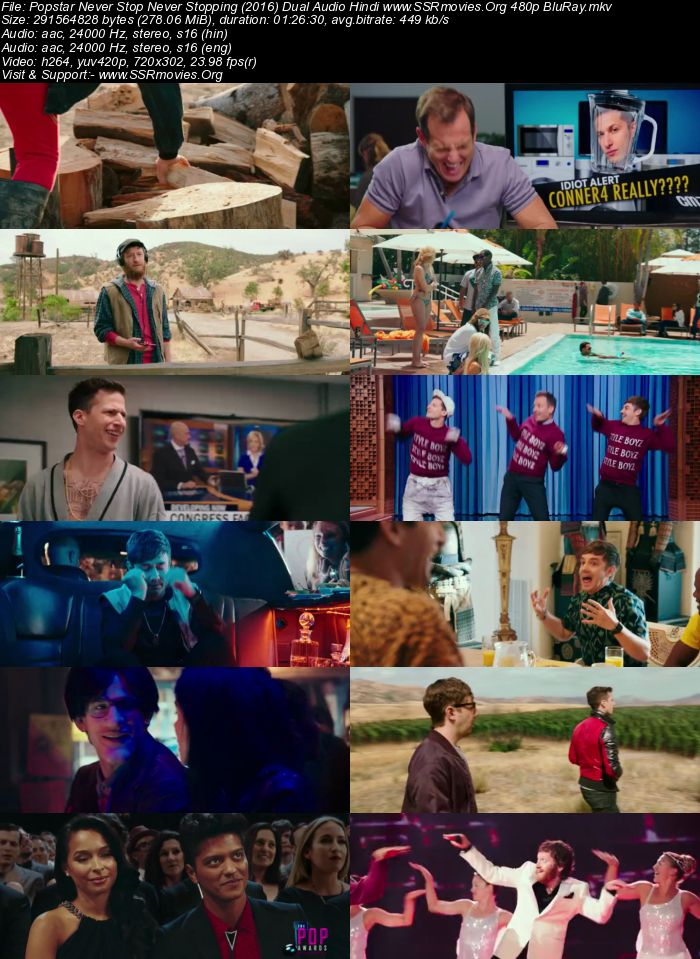 Popstar: Never Stop Never Stopping (2016) Dual Audio Hindi 480p BluRay