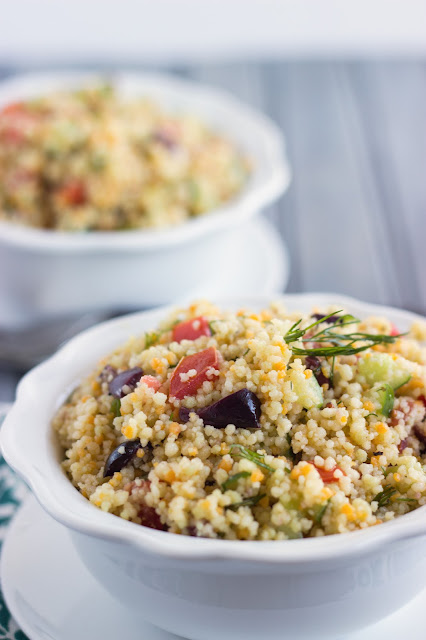 Mediterranean Couscous Salad | Cooking on the Front Burner