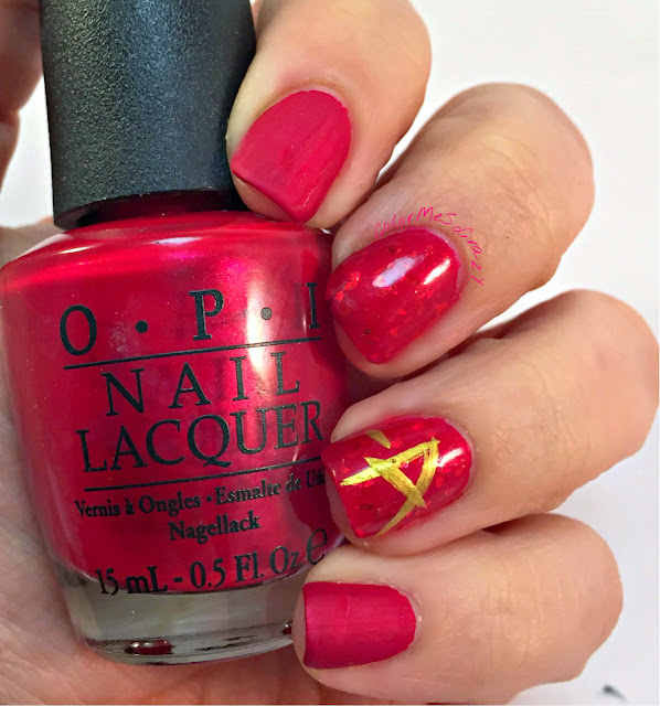 RedCoatTuesday, pretty little liars, pretty little liars nails, red nails, pretty little nails, red coat tuesday, just rica, opi wocka wocka, a nails