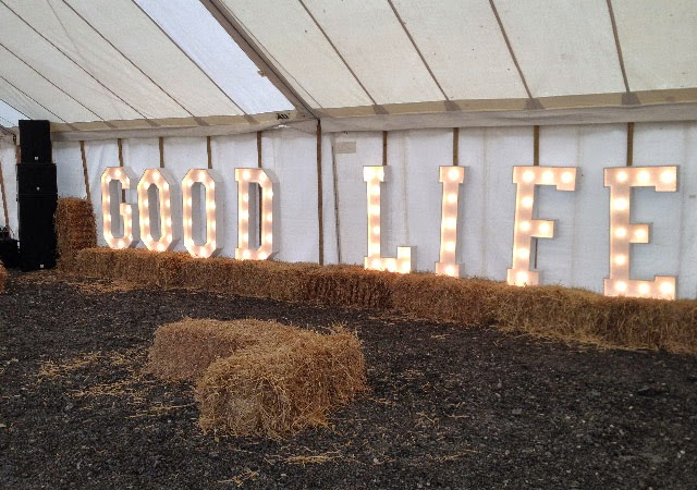 Light up letters at The Good Life Experience
