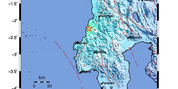 Gempa M5,4 Dirasakan Kuat Warga Mamuju Tengah