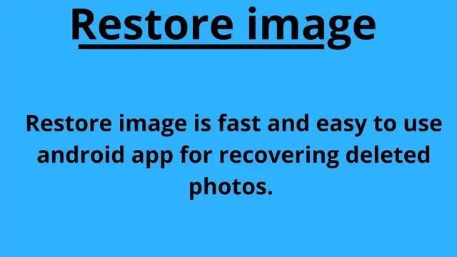 restore image app