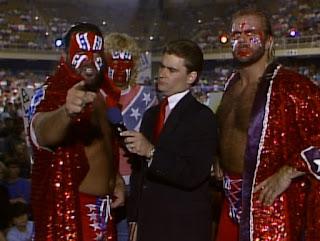 WCW Clash of the Champions XII - Tony Schiavone interviews The Fabulous Freebirds