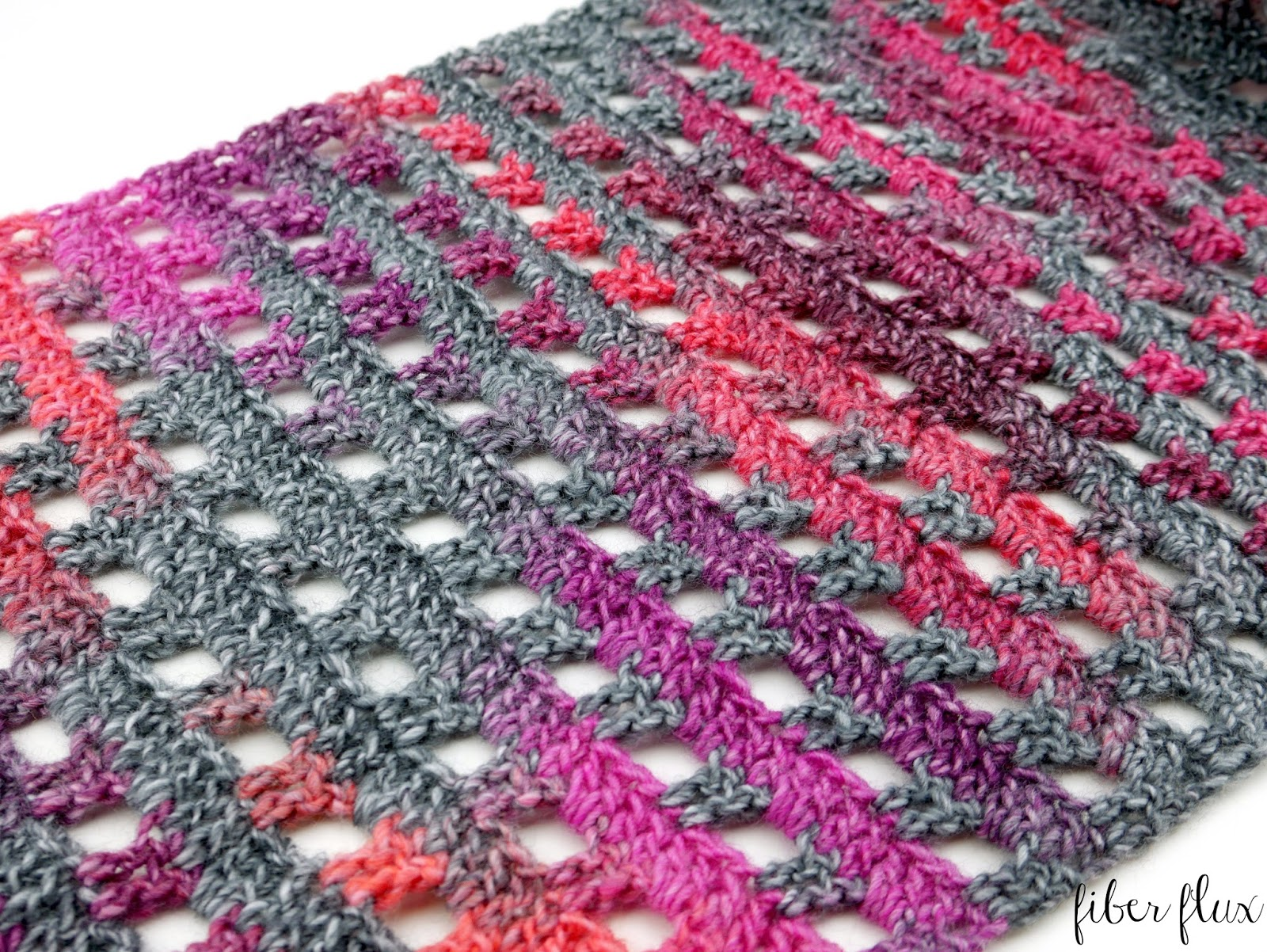 Fiber Flux: Free Crochet Pattern...Heathered Eyelets Wrap