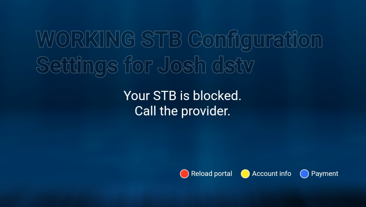 Josh dstv Stb configuration