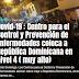 Covid-19 : Centro para el Control y Prevención de Enfermedades coloca a República Dominicana en nivel 4 ( muy alto)
