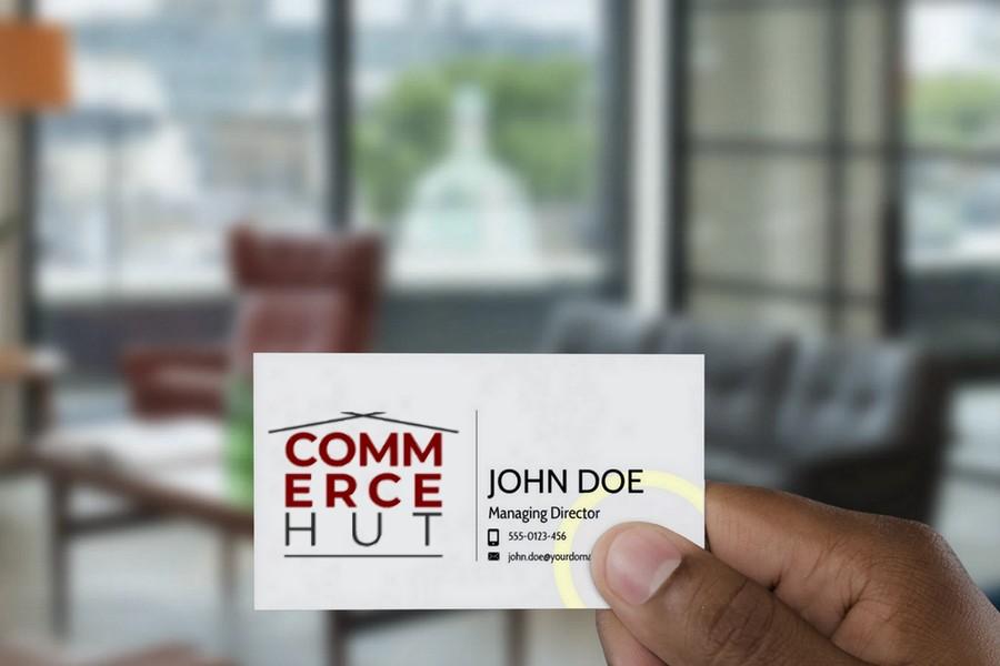 Commerce Hut Mock Card
