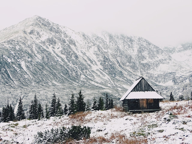 Szlak na Halę Gąsienicową zimą