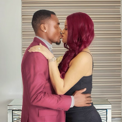 Emenike and wife Iheoma kissing in new photo