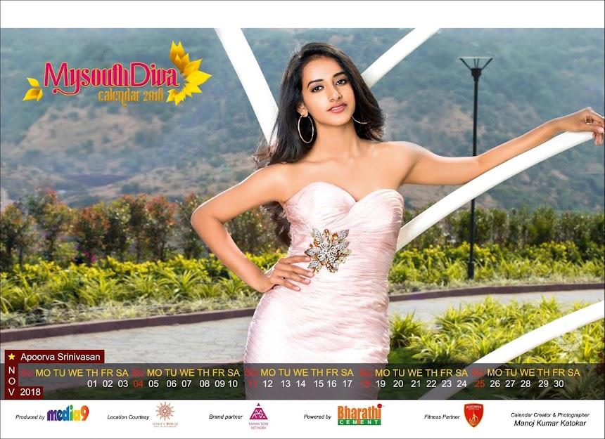 My South Diva Calendar 2018 - Apoorva Srinivasan