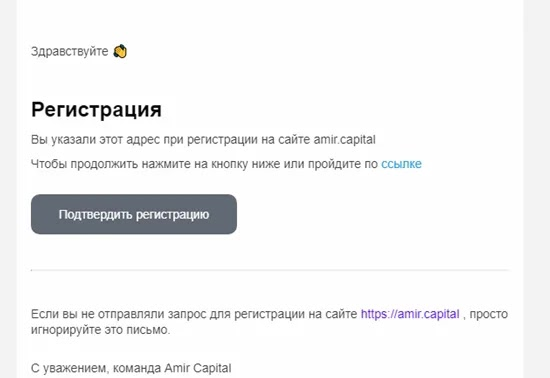 Amir Capital регистрация 3