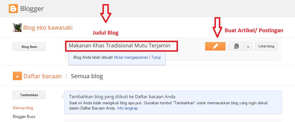 Cara Buat Blog Gratis Dan Mudah