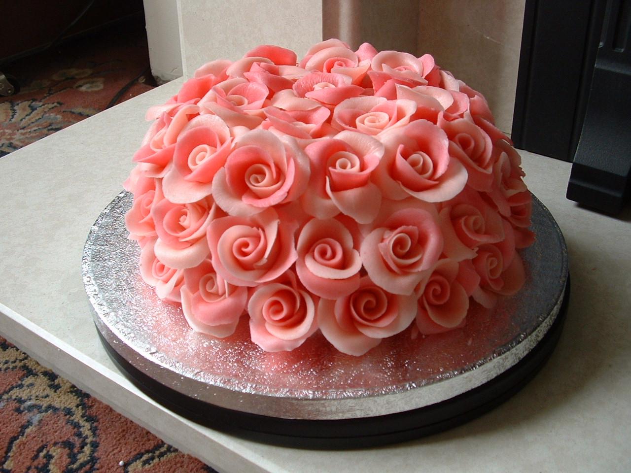 Rainbow Petal Cake, Cakes And