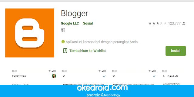 Tips Cara memakai Menggunakan Aplikasi Blogger di Android