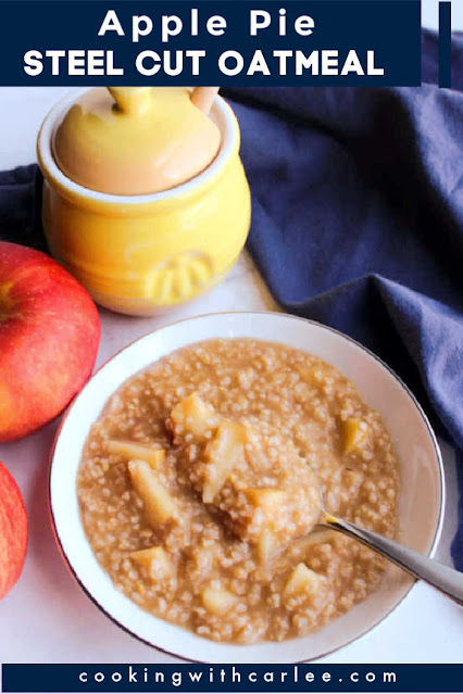 This oatmeal is the epitome of fall.  It has so much apple cooked in and your whole house will smell like apple pie while it cooks. It is easy to make, the leftovers are great, and it is delicious too.  Make a batch every weekend all fall long and it is sure to be a magnificent autumn.  Believe me, this is a must make!