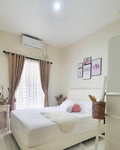 Desain Kamar Tidur Kecil Warna Putih Minimalis