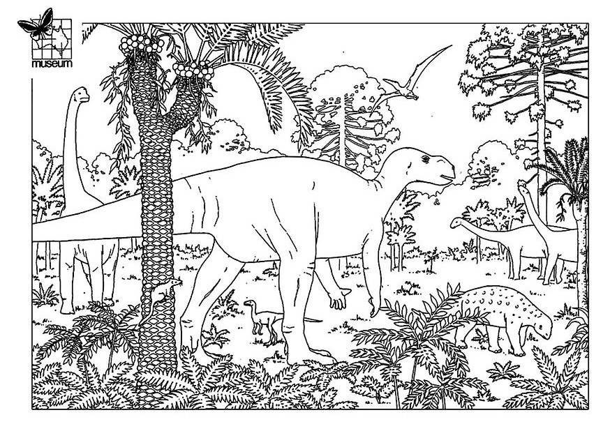 Dinosaurs coloring pages 58