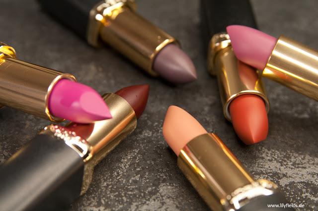 Loreal - Color Riche Matte Lippenstifte - Magnetic Stones – Review und Swatches