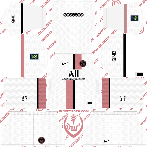 Paris Saint-Germain (PSG) Kits 2021-2022 Jordan - Dream League Soccer 19 Kits (Away)