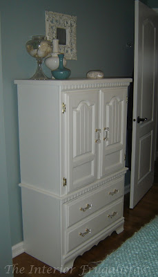 Painted Bedroom Hutch Makeover